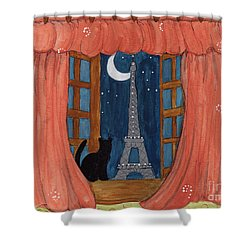 Paris Moonlight Shower Curtain by Lee Owenby