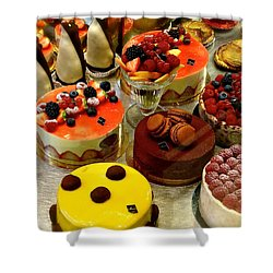 Paris Pastry Pause Shower Curtain