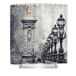 Paris Pompous 2 Shower Curtain