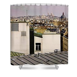 Paris Rooftop Panorama Shower Curtain by Thomas Marchessault