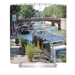 Paris - Seine Scene Shower Curtain by HEVi FineArt