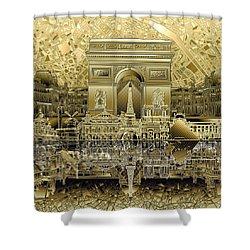 Paris Skyline Landmarks 4 Shower Curtain