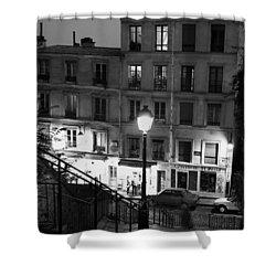 Paris-steps-montmartre Shower Curtain