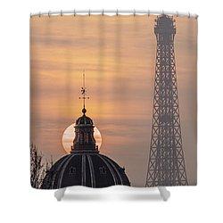 Paris Sunset IIi Shower Curtain
