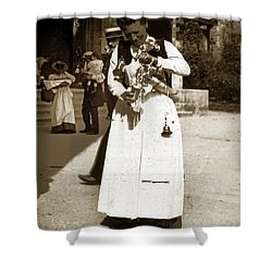 Shower Curtain featuring the photograph Parisian Woman Lady Paris France 1900 Historical Photo by California Views Mr Pat Hathaway Archives