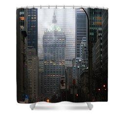 Park Avenue Dawn In Color Shower Curtain
