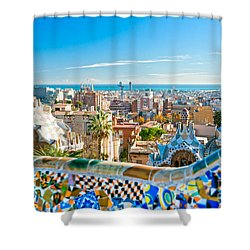 Park Guell - Barcelona Shower Curtain by Luciano Mortula