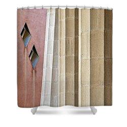 Park Guell Pillars Shower Curtain by Dave Bowman