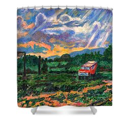 Park In Floyd Shower Curtain by Kendall Kessler