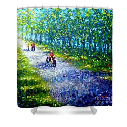 Park On St Helen Island - Montreal Shower Curtain