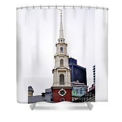 Park Street Church Boston Massachusetts Shower Curtain