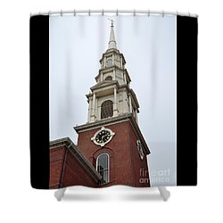 Park Street Church Boston Shower Curtain