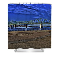 Shower Curtain featuring the photograph Parkersburg Point Park by Jonny D