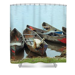 Parking Boats Shower Curtain