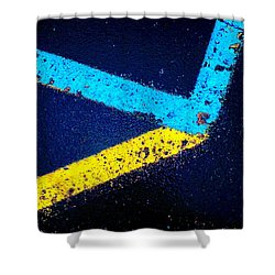 Shower Curtain featuring the photograph Parking Lot by Daniel Thompson