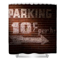 Parking Ten Cents Shower Curtain by Bob Orsillo