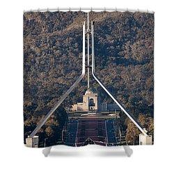 Parliament And War Memorial Australia Shower Curtain