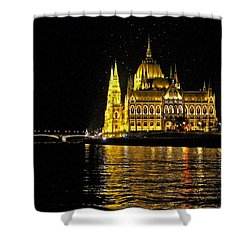 Parliament At Night Shower Curtain
