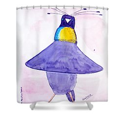 Parotia Dancing - Bird Of Paradise Shower Curtain