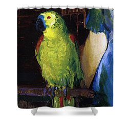 Parrot Shower Curtain by George Wesley Bellows
