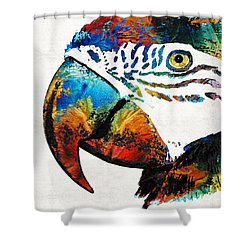 Parrot Head Art By Sharon Cummings Shower Curtain by Sharon Cummings