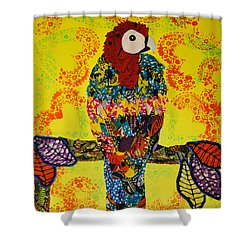 Parrot Oshun Shower Curtain