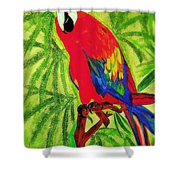 Parrot In Paradise Shower Curtain