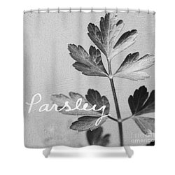 Parsley Shower Curtain by Linda Woods