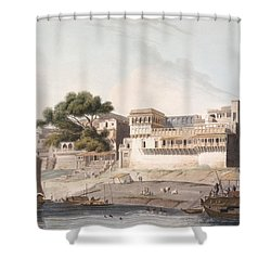 Part Of The City Of Patna, On The River Shower Curtain by Thomas Daniell