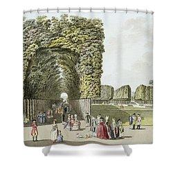 Part Of The Garden At Ausgarten Shower Curtain by Johann Ziegler