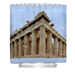 Parthenon Corner Shower Curtain