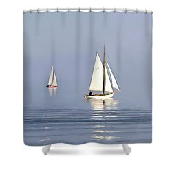 Parting Fog Shower Curtain by Paul Tagliamonte
