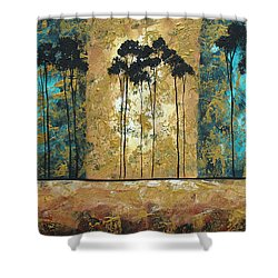 Parting Of Ways By Madart Shower Curtain by Megan Duncanson