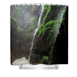 partnachklamm impression I Shower Curtain by Hannes Cmarits