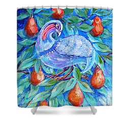 Partridge In A Pear Tree  Shower Curtain by Trudi Doyle