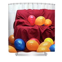Party Balloons Shower Curtain by Carlos Caetano