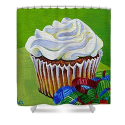Party Cupcake Shower Curtain by Susan Duda