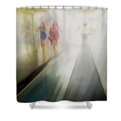 Shower Curtain featuring the photograph Party Girls by Alex Lapidus