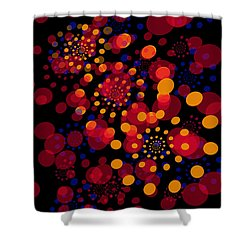 Party Time Abstract Painting Shower Curtain