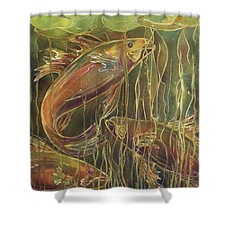Party Under The Lily Pads II Shower Curtain