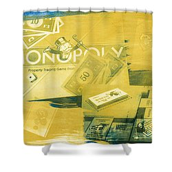 Pass Go Shower Curtain by Caitlyn  Grasso