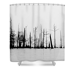 Pass Manchac Shower Curtain by Charlotte Schafer