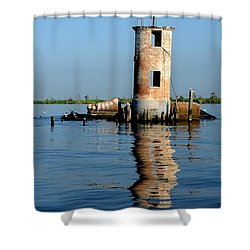 Pass Manchac Lighthouse Shower Curtain by Charlotte Schafer
