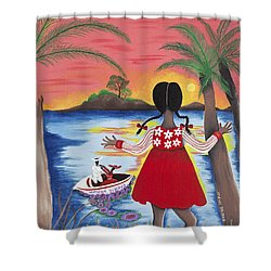 Pass The Path Shower Curtain by Patricia Sabree