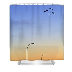 Passage Into Dawn Shower Curtain