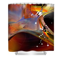 Passing Orion - Constellation Stars Shower Curtain