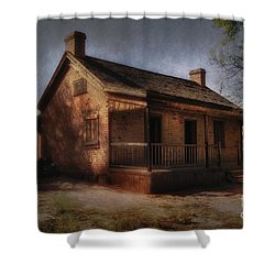 Passing The Time Shower Curtain by Sandra Bronstein