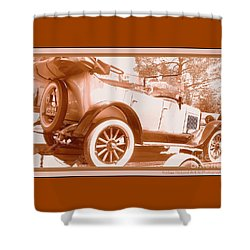 Shower Curtain featuring the photograph Vintage Car Passing Through by Bobbee Rickard