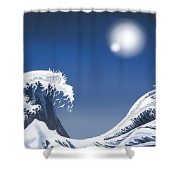 Passing Wave Shower Curtain