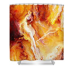 Passion - Abstract Art Shower Curtain by Jaison Cianelli
